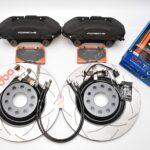 MQB Brake Kit Porsche Macan Brembo 4pot DBA 345x30mm Slotted discs NEW- 7
