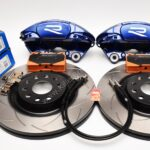 MQB Brake Kit Porsche Macan Brembo 4pot DBA 345x30mm Slotted discs NEW with color logo options- 12