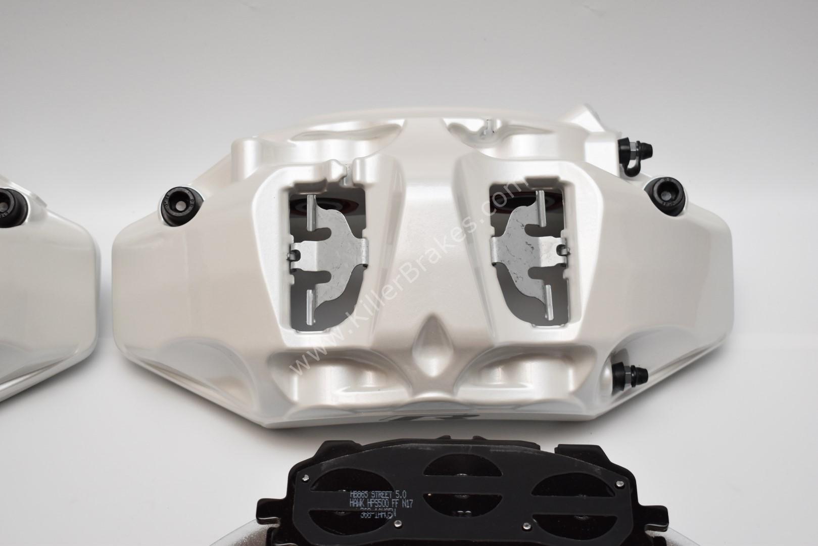 Front Audi Rsq3 F3 Brake Kit Akebono 6pot Oryx White 374x36mm New