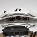 Front Audi Rsq3 F3 Brake Kit Akebono 6pot Oryx White 374x36mm New- 13