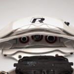 Front Audi Rsq3 F3 Brake Kit Akebono 6pot Oryx White 374x36mm New- 14