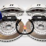 Front Audi Rsq3 F3 Brake Kit Akebono 6pot Oryx White 374x36mm New- 4