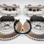 Front Audi Rsq3 F3 Brake Kit Akebono 6pot Oryx White 374x36mm New- 5