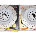 Front Wave DBA 42808WSLVXD Brake Discs 345x30mm 4000 series T3 Slotted New Golf 6R S3 8P- 2
