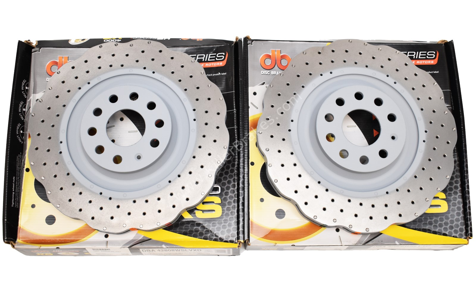 Front Wave DBA 42808WSLVXD Brake Discs 345x30mm 4000 series T3 Slotted New Golf 6R S3 8P