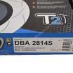 Rear DBA 2814S Brake Discs 272x10mm Street Series T2 Slotted New- 3