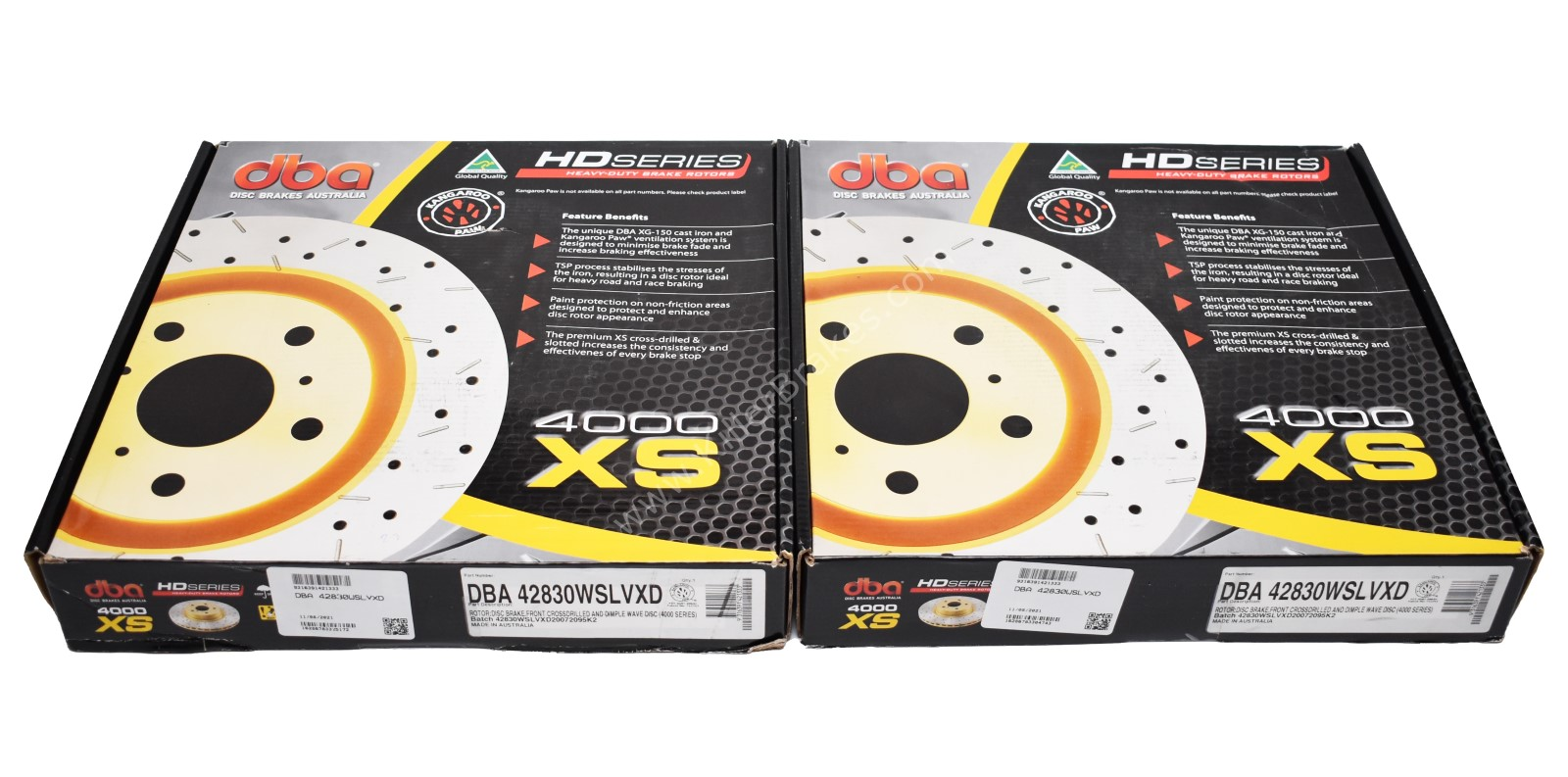 Front DBA 42830WSLVXD Wave Brake Discs 340x30mm 4000 series T3 Slotted New