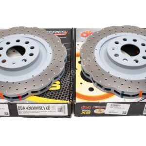 Front DBA 42830WSLVXD Wave Brake Discs 340x30mm 4000 series T3 Drilled New
